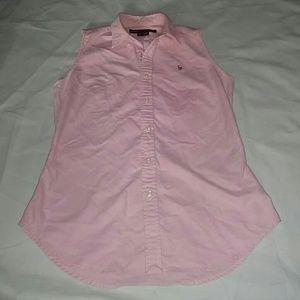 Ralph Lauren Sport Pink button down size 4